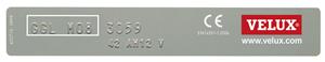 Exemple Plaque identification VELUX de 2001 à 2012