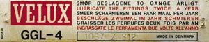Exemple Plaque identification VELUX avant 1992