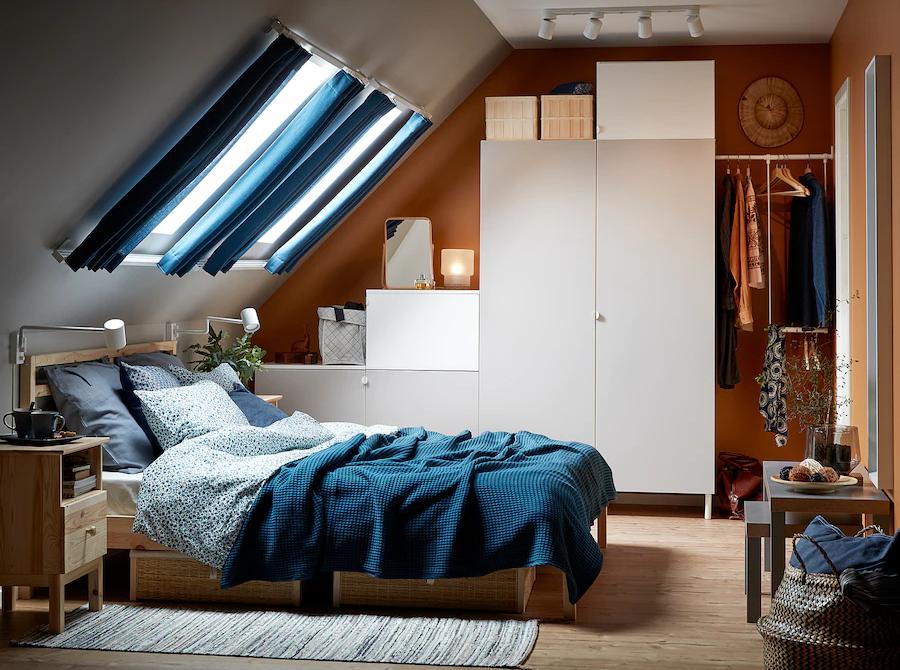 rangement escalier chambre sous les toits