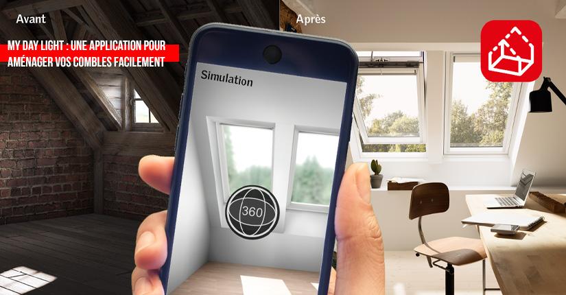 L'application My day light Velux, pour aménager vos combles facilement !